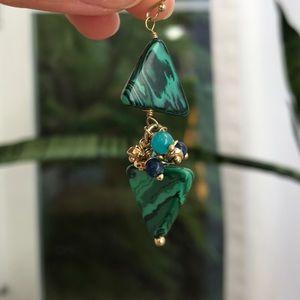 Anthropologie turquoise earrings
